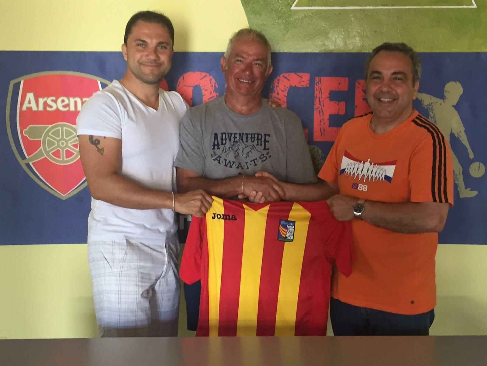 Presentazione di mister Rossetto con il TM Finotti e DS Zorzan